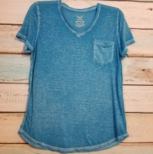 Faded Glory Blue Pocket Tee Plus Size XL.